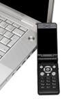 мобильный телефон компьютера стоковое изображение rf