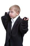 мобильный телефон мальчика Стоковое Изображение