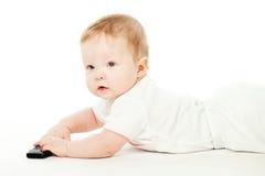 мобильный телефон младенца Стоковые Фотографии RF