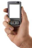 мобильный телефон руки стоковые изображения rf