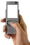 мобильный телефон руки стоковое фото rf