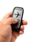 мобильный телефон руки Стоковая Фотография