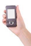 мобильный телефон удерживания руки стоковое фото rf