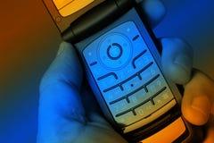 мобильный телефон цветастый стоковые изображения rf