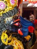 Мобильный pic Puja стоковые фото