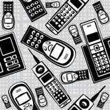 Мобильные телефоны вектора винтажные безшовные Стоковые Фотографии RF