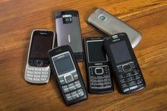 Мобильные телефоны Nokia Стоковое Изображение RF
