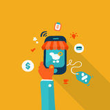 Мобильный маркетинг Стоковое Изображение