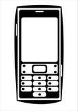 Мобильный телефон вектора изолированный на белизне Стоковые Фотографии RF