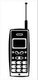 Мобильный телефон вектора изолированный на белизне Стоковое Фото