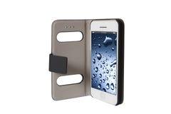 Мобильный телефон в сумке Белое Smartphone Стоковые Фото