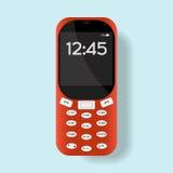Мобильный телефон на предпосылке также вектор иллюстрации притяжки corel Стоковое Изображение