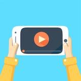 Мобильный телефон с видео-плейер Стоковая Фотография RF