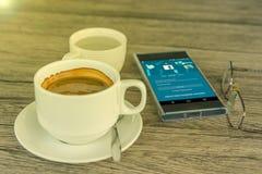 Мобильный телефон с именем пользователя применения Facebook Стоковые Изображения RF