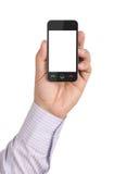 Мобильный телефон с пустым экраном стоковые изображения rf