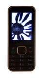 Мобильный телефон с сломленным дисплеем LCD Стоковое Изображение