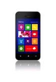 Мобильный телефон с экраном применения над белизной Стоковые Изображения RF