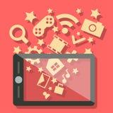Мобильный телефон технологии средств массовой информации Стоковая Фотография