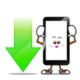 Мобильный телефон, умный шарж телефона Стоковые Фотографии RF