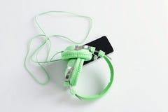 мобильный телефон шлемофона Стоковые Изображения RF