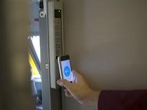 Мобильный телефон Nfc Стоковые Фото