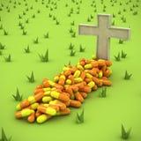 могила фармацевтическая иллюстрация вектора