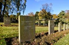 Могилы войны, обслуживание день памяти погибших в первую и вторую мировые войны, гоньба Cannock Стоковая Фотография RF