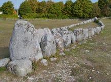 Могила корабля Викинга Стоковые Изображения RF