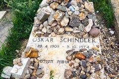 Могила Oskar Schindlers в Иерусалиме, Mount Zion стоковое изображение rf