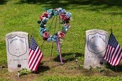 Могила USCT сидела кладбище холма Сиона Стоковые Фотографии RF