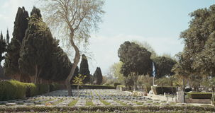 Могилы в воинском кладбище в Израиле видеоматериал