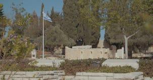 Могилы в воинском кладбище в Израиле сток-видео