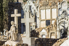 Могилы в кладбище Стоковое Изображение