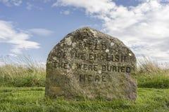 Могилы клана на Culloden причаливают в Шотландии Стоковые Фото