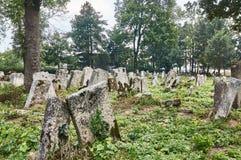 Могильные камни в еврейском кладбище Стоковое Изображение RF