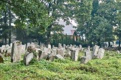 Могильные камни в еврейском кладбище Стоковые Изображения RF