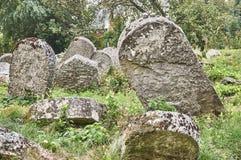 Могильные камни в еврейском кладбище Стоковые Фотографии RF