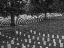 Могильные камни гражданской войны кладбища холма пещеры Стоковое Изображение RF