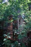 Могильный камень в еврейском кладбище Стоковое Изображение RF