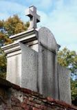 Могильный камень с крестом Стоковые Фото