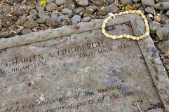 Могильный камень Чарльза Линдберга, Kipahulu, Мауи стоковое фото