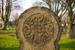 Могильный камень Celtic кладбища Стоковая Фотография