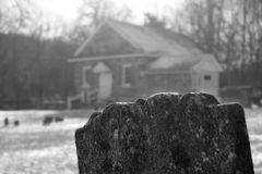 могильный камень 1700's Стоковые Изображения