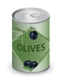 могут оливки Стоковая Фотография