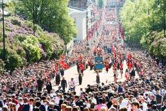 17 могут парад Осло Норвегии Стоковые Фотографии RF