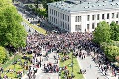 17 могут парад Осло Норвегии Стоковая Фотография