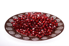 могут superfoods съемки семян pomegranate макроса одного холестерола близкие более низкие вверх стоковое изображение