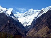 могущественная гора Rakaposhi стоковое фото rf