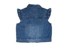 Мода жилетов джинсов Безрукавные голубые джинсы возлагают или куртка  стоковые фото