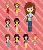Модели девушек моды улицы носят женщину стиля модную стильную бесплатная иллюстрация